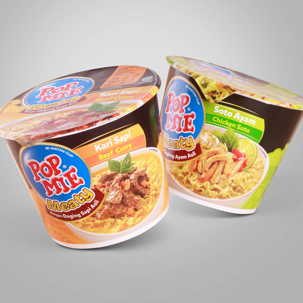 Pop Mie Meaty Packaging