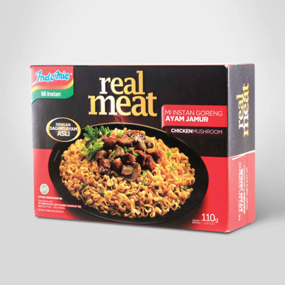 Indomie Real Meat Packaging