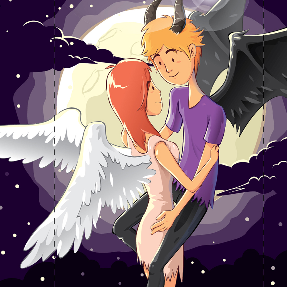 Angel & Evil Illustration