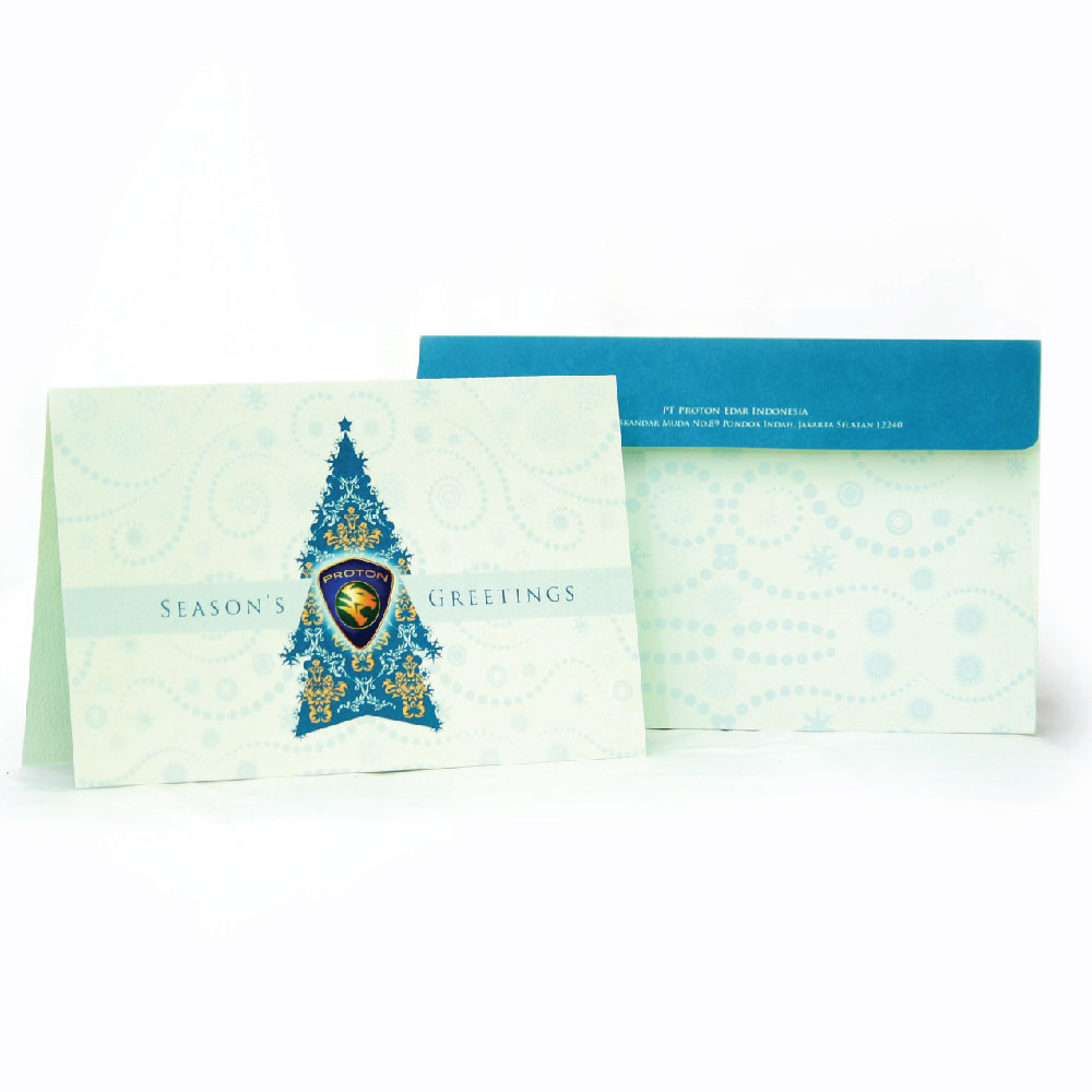 Proton Greeting Card